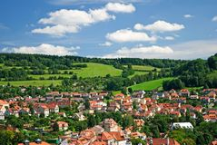 View on Cesky Krumlov Royalty Free Stock Photography