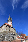 View of Cesky Krumlov Castle from the bottom Stock Images