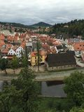 View of Cesky Krumlov. View of the city Cesky Krumlov in Czech Republic, beautiful town in Eastern Europe Royalty Free Stock Photos