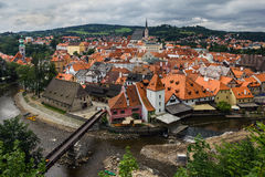 View of Cesky Krumlov, Czech Republic. Royalty Free Stock Images