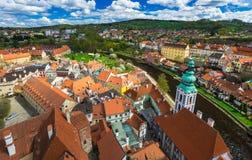 View of Cesky Krumlov, Czech republic Stock Photography