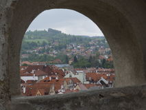 View from Cesky Krumlov Republic Royalty Free Stock Images