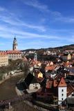 View of Cesky Krumlov town Stock Photo