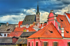View of Cesky Krumlov town, a UNESCO heritage site in Czech Republic Royalty Free Stock Images
