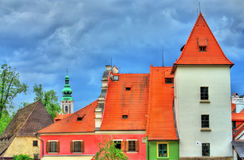 View of Cesky Krumlov town, a UNESCO heritage site in Czech Republic Stock Photo