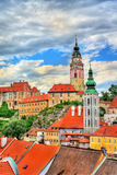 View of Cesky Krumlov town, a UNESCO heritage site in Czech Republic Royalty Free Stock Photos