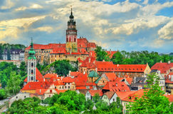 View of Cesky Krumlov town, a UNESCO heritage site in Czech Republic Royalty Free Stock Image