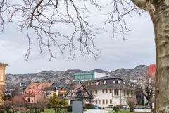 View of the Cetinje town in Montenegro Royalty Free Stock Image