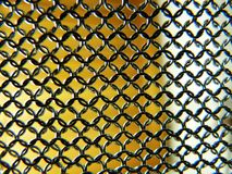 View through chain mail detail Stock Photography