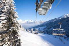 View from Chair Lift Royalty Free Stock Photography