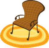 The view of chair Royalty Free Stock Images