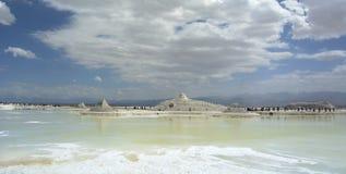 View of Chaka Salt Lake Stock Photography