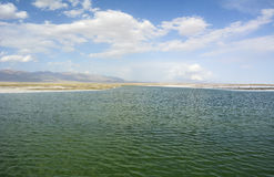 View of Chaka Salt Lake Royalty Free Stock Image