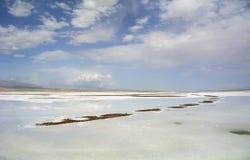 View of Chaka Salt Lake Royalty Free Stock Images