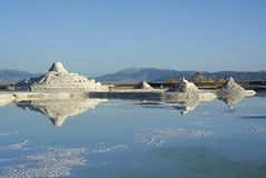 View of Chaka Salt Lake Stock Photography