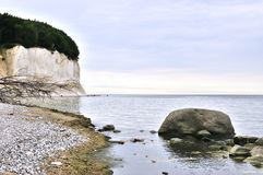 View on the chalk cliffs on r�gen Royalty Free Stock Photo