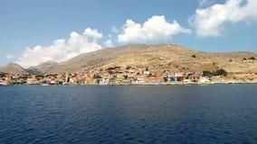 Chalki island stock footage