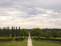 View from Chambord. Castle in France royalty free stock photography