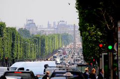 View of the Champs Elysees. In Paris, France Royalty Free Stock Photo