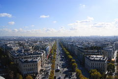 View of the Champs Elysees Stock Photo