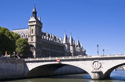 View for  the Changed bridge. Paris Royalty Free Stock Images