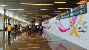 View of the Changi airport in Singapore Stock Photos