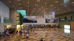View of Changi International Airport. Singapore. Changi Airport is one of the most comfortable in the world stock footage