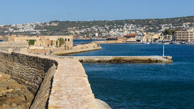 View of Chania Harbour Royalty Free Stock Photography