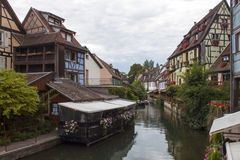 Channel in Colmar France. View of a Channel in Colmar France stock photos