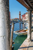 View of a channel at Murano island in Venice, Italy Stock Photo