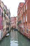 View of the channels and old palaces in Venice in the morning Royalty Free Stock Photography
