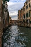 View of the channels and old palaces in Venice in the morning Royalty Free Stock Images