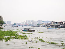 View on Chao Phraya river at afternoon , Bangkok Royalty Free Stock Photography