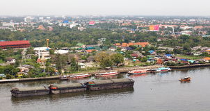 View of The Chao Phraya River Stock Photo