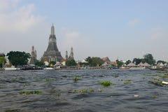 View of Wat Arun along Chao Phraya River Royalty Free Stock Image