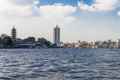 View of the Chao Phraya River in Bangkok Stock Image