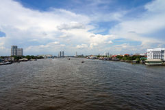 View of Chao Phraya river Royalty Free Stock Images