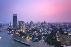 View of Chao Phraya river Stock Photo