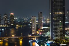 View of Chao Phraya river Royalty Free Stock Photo