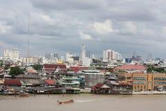 View from Chao Phraya river royalty free stock photo