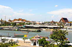 View of the Chao Praya River in Bangkok Royalty Free Stock Photography