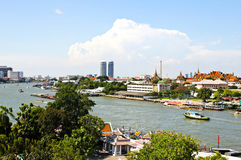 View of the Chao Praya River in Bangkok Royalty Free Stock Images