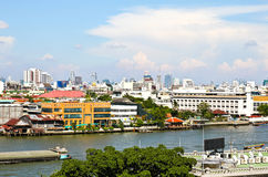 View of the Chao Praya River in Bangkok Stock Photo
