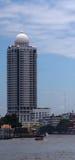 View from Chao praya river on Bangkok River Park Condominium  tower, Bangkok, Thailand Stock Photos