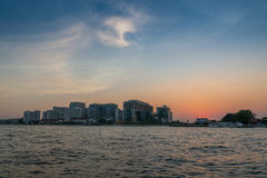 View of the Chao Praya River in Bangkok, Thailand Royalty Free Stock Images