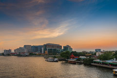 View of the Chao Praya River in Bangkok, Thailand Royalty Free Stock Photos