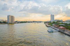 View of Chaophraya river on bridge Stock Images