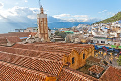 View on Chaouen in Morocco. View on Chaouenthe blue city in Morocco Royalty Free Stock Photography