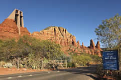 A View of the Chapel of the Holy Cross, Sedona Stock Photo