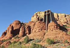 A View of the Chapel of the Holy Cross, Sedona Royalty Free Stock Images